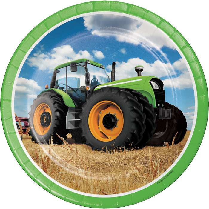 Tractor Time Paper Plates, 8 ct by Creative Converting
