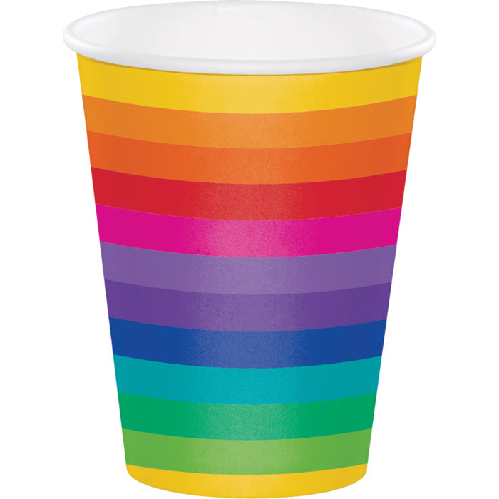Rainbow Hot/Cold Paper Paper Cups 12 Oz., 8 ct by Creative Converting