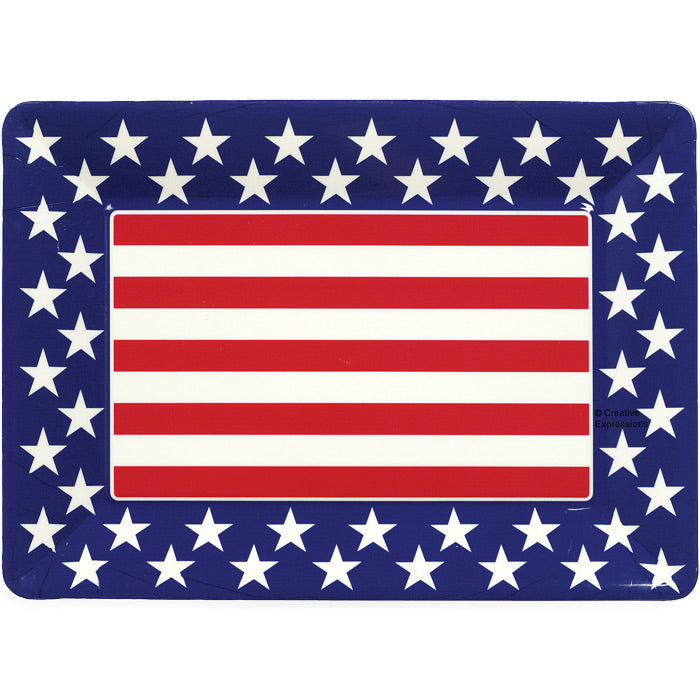 "Patriotic Plastic Tray 14""X10"", Patriotic by Creative Converting"