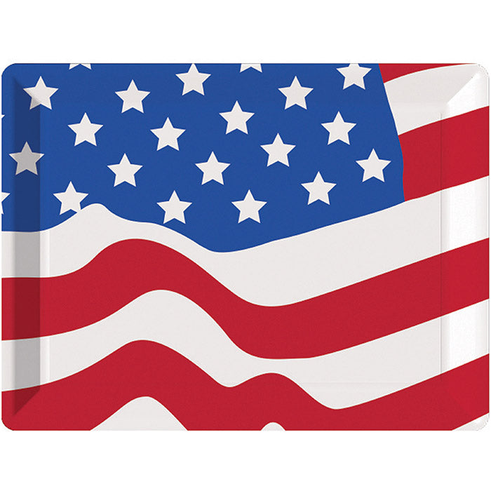 "Plastic Tray, Flag 10"" X 14"" by Creative Converting"