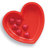 Red Heart Plastic Serving Tray by Creative Converting