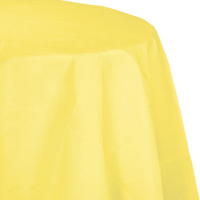 "Mimosa Tablecover, Octy Round 82"" Polylined Tissue by Creative Converting"
