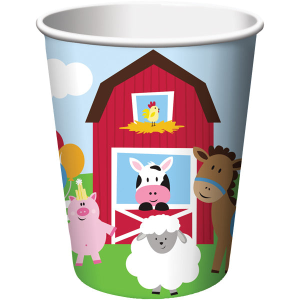 Farmhouse Fun Hot/Cold Paper Cups 9 Oz., 8 ct by Creative Converting