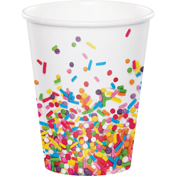 Sprinkles Hot/Cold Paper Paper Cups 9 Oz., 8 ct by Creative Converting