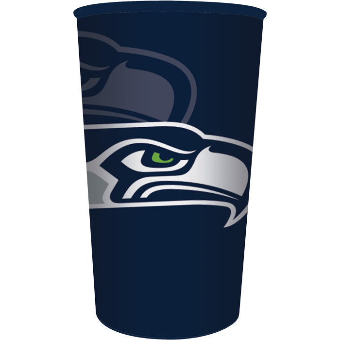 Seattle Seahawks Plastic Cup, 22 Oz by Creative Converting