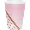 Rose' All Day Hot/Cold Paper Paper Cups 12 Oz., Foil, 8 ct by Creative Converting