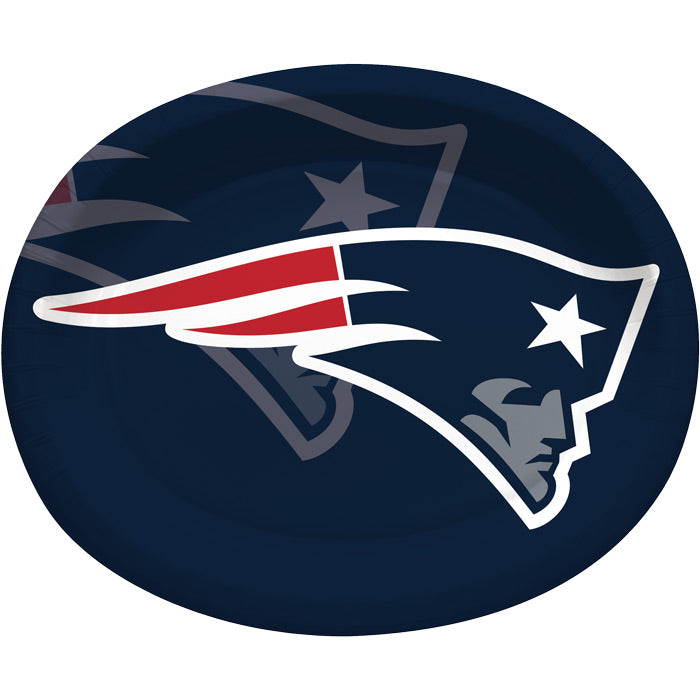 "New England Patriots Oval Platter 10"" X 12"", 8 ct by Creative Converting"