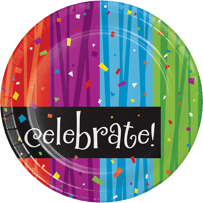 Milestone Celebrations Paper Plates, 8 ct by Creative Converting