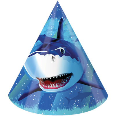 Shark Splash Party Hats, 8 ct by Creative Converting