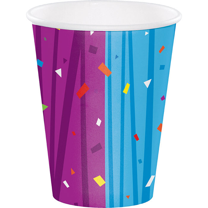 Milestone Celebrations Hot/Cold Paper Paper Cups 12 Oz., 8 ct by Creative Converting