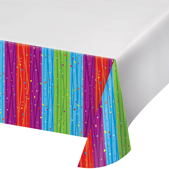 "Milestone Celebrations Tablecover Plastic 54"" X 108"" by Creative Converting"