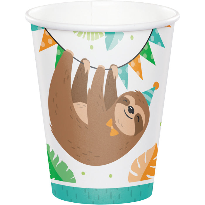 Sloth Party Paper Cups, Pack Of 8 by Creative Converting