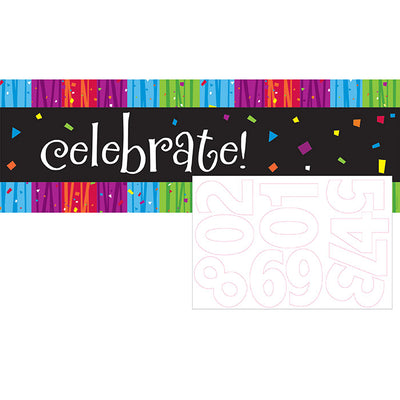 Milestone Celebrations Giant Party Banner W/Stck by Creative Converting