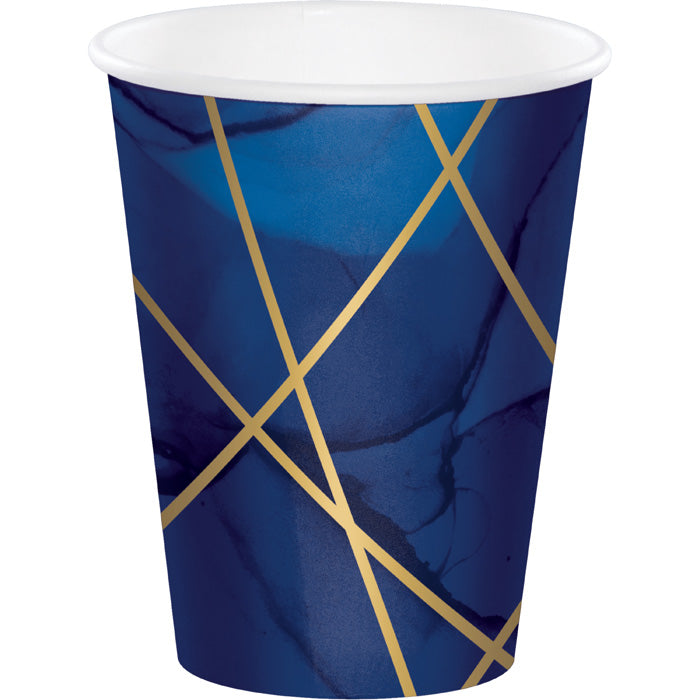 Navy Blue And Gold Foil Paper Cups, Pack Of 8 by Creative Converting