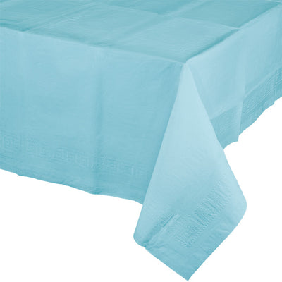 "Pastel Blue Tablecover 54""X 108"" Polylined Tissue by Creative Converting"