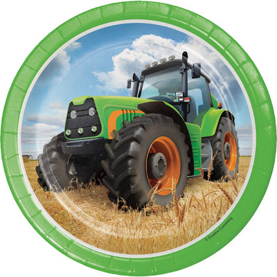 Tractor Time Dessert Plates, 8 ct by Creative Converting