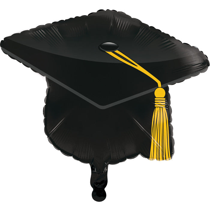 "Graduation Metallic Balloon,22"" Mortarboard Black by Creative Converting"