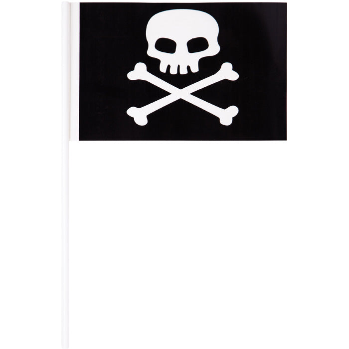 Plastic Pirate Flag Banner, 8 ct by Creative Converting