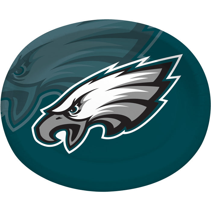"Philadelphia Eagles Oval Platter 10"" X 12"", 8 ct by Creative Converting"