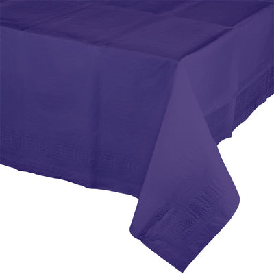 "Purple Tablecover 54""X 108"" Polylined Tissue by Creative Converting"