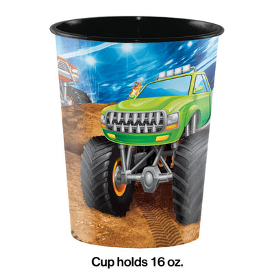 Monster Truck Rally Plastic Keepsake Cup 16 Oz. Party Decoration