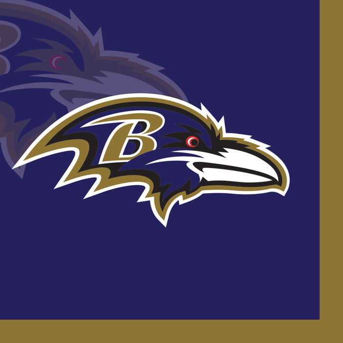 Baltimore Ravens Beverage Napkins, 16 ct by Creative Converting