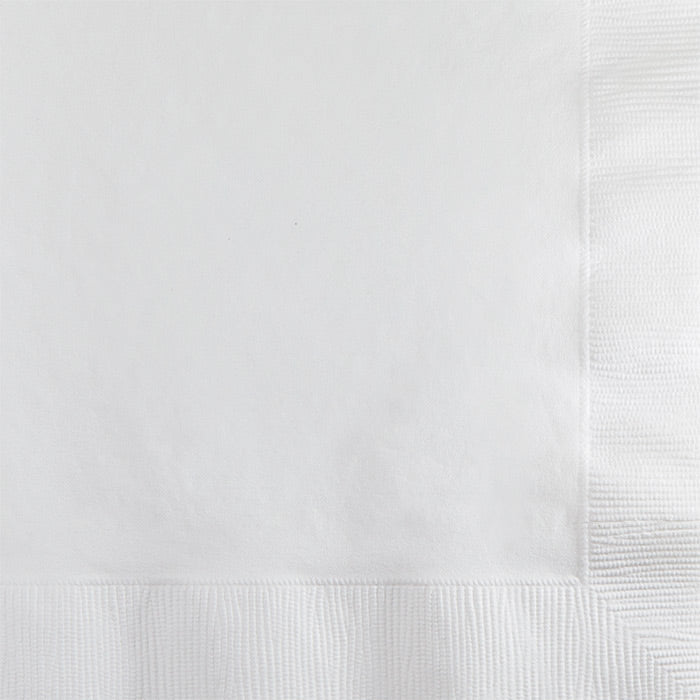 White Beverage Napkin 2Ply, 50 ct by Creative Converting