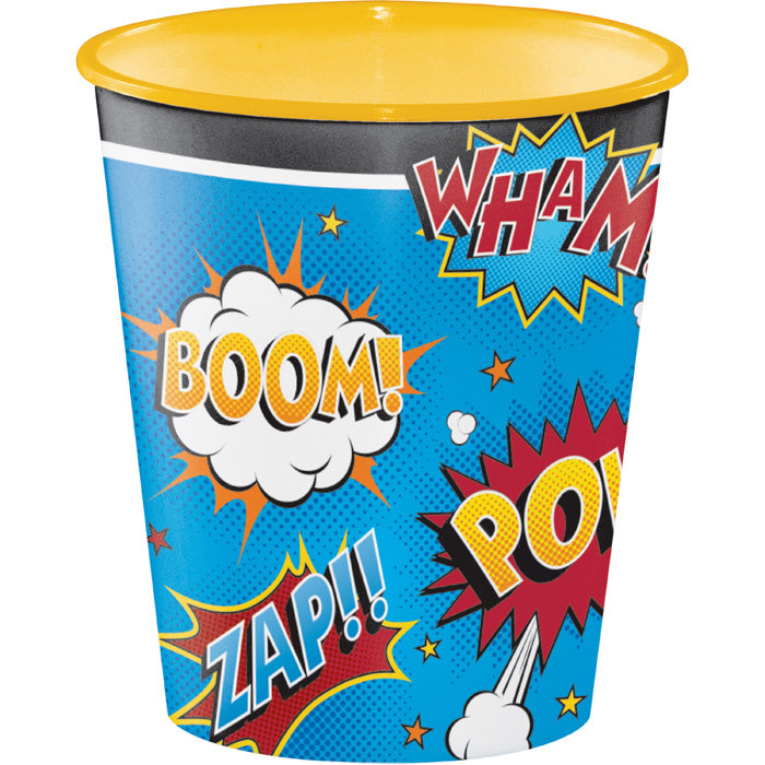 Superhero Slogans Plastic Cups, 12 Oz by Creative Converting