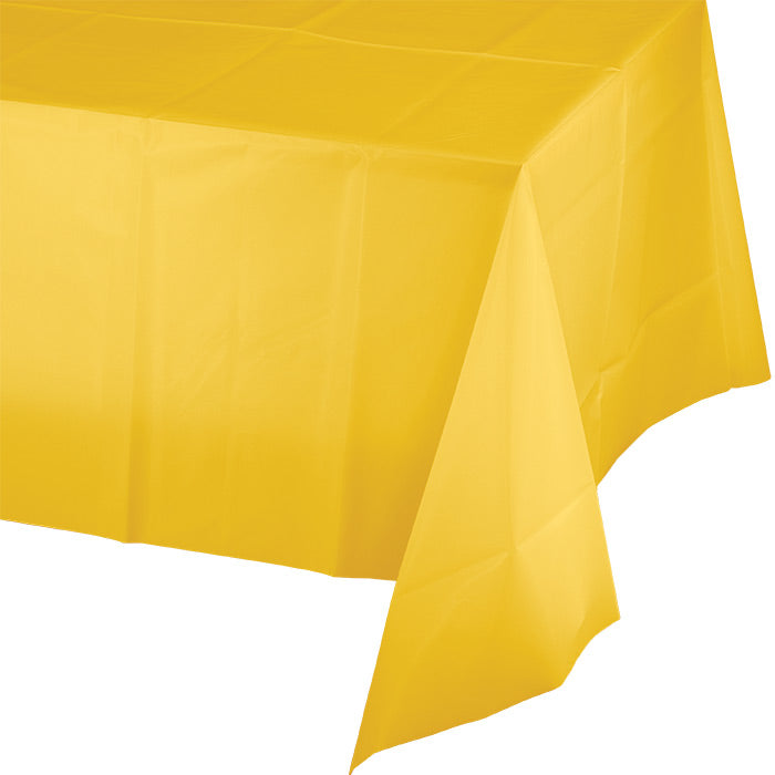 "School Bus Yellow Tablecover Plastic 54"" X 108"" by Creative Converting"