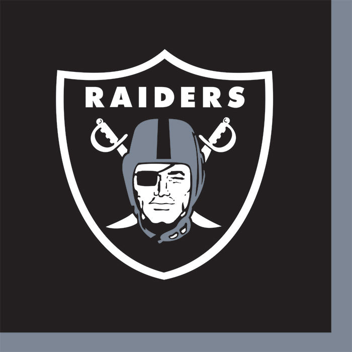Oakland Raiders Beverage Napkins, 16 ct by Creative Converting