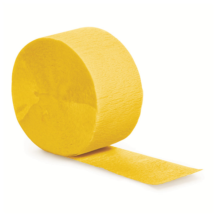 School Bus Yellow Crepe Streamers 81' by Creative Converting