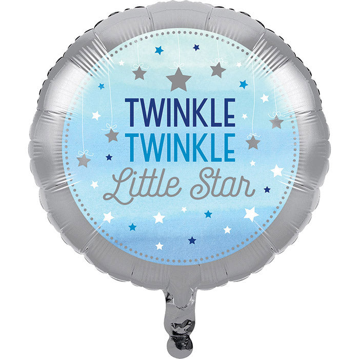"One Little Star - Boy Metallic Balloon 18"" by Creative Converting"