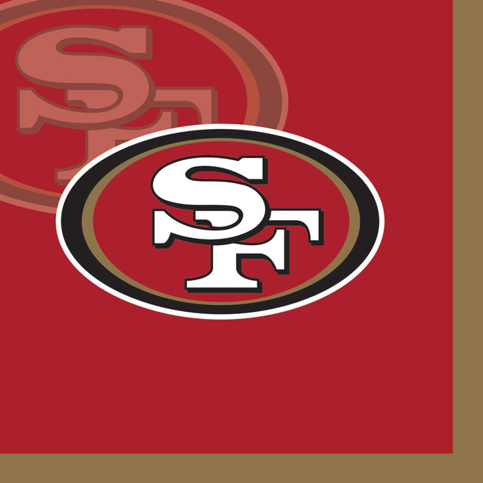 San Francisco 49Ers Beverage Napkins, 16 ct by Creative Converting