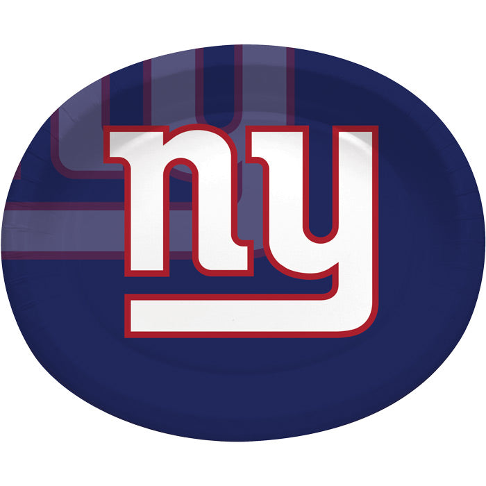 "New York Giants Oval Platter 10"" X 12"", 8 ct by Creative Converting"