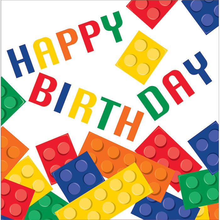 Block Party Birthday Napkins, 16 ct by Creative Converting