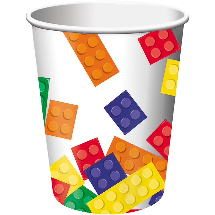 Block Party Hot/Cold Paper Cups 9 Oz., 8 ct by Creative Converting