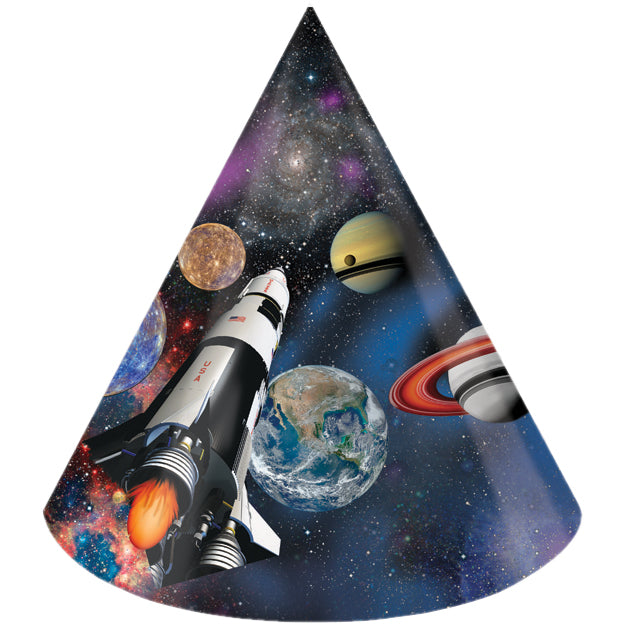 Space Blast Party Hats, 8 ct by Creative Converting