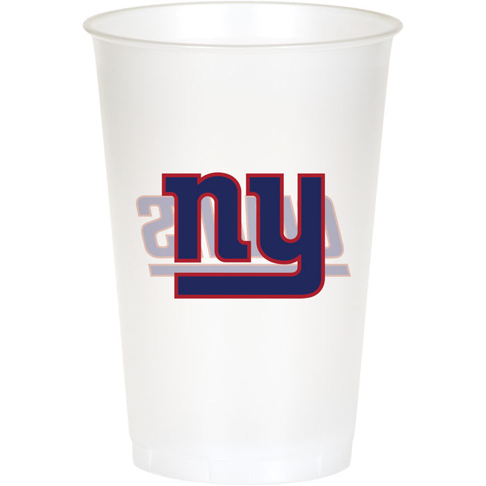 New York Giants Plastic Cup, 20Oz, 8 ct by Creative Converting