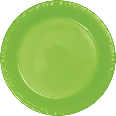 Fresh Lime Green Plastic Banquet Plates, 20 ct by Creative Converting