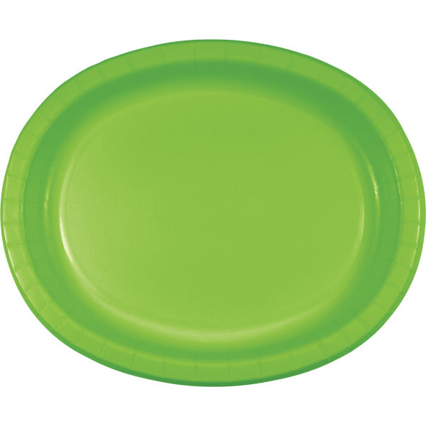 "Fresh Lime Oval Platter 10"" X 12"", 8 ct by Creative Converting"