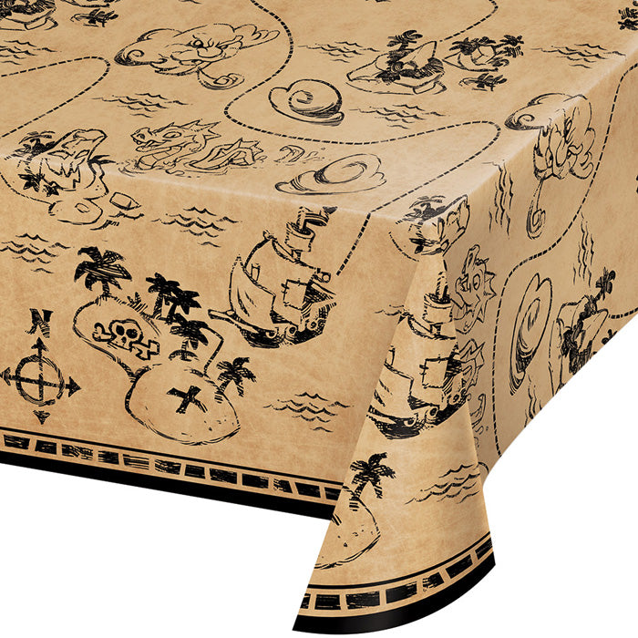 "Pirate Treasure Plastic Tablecover All Over Print, 54"" X 102"" by Creative Converting"
