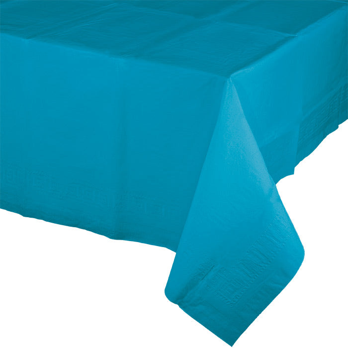 "Turquoise Tablecover 54""X 108"" Polylined Tissue by Creative Converting"