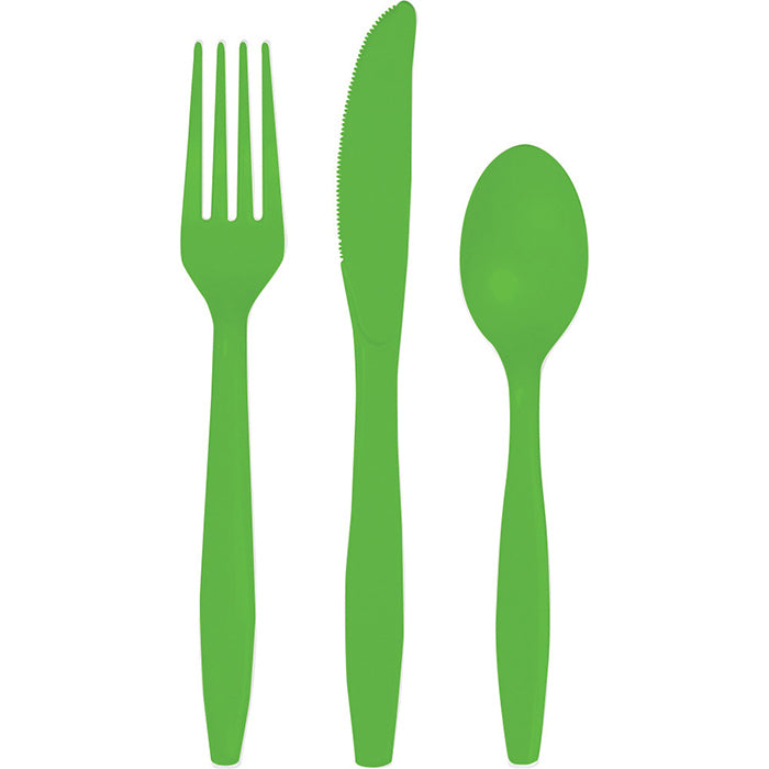 Fresh Lime Green Assorted Cutlery, 18 ct by Creative Converting