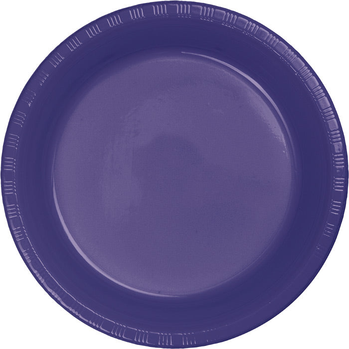 Purple Plastic Dessert Plates, 20 ct by Creative Converting