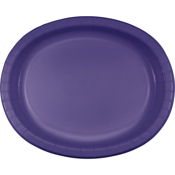 "Purple Oval Platter 10"" X 12"", 8 ct by Creative Converting"