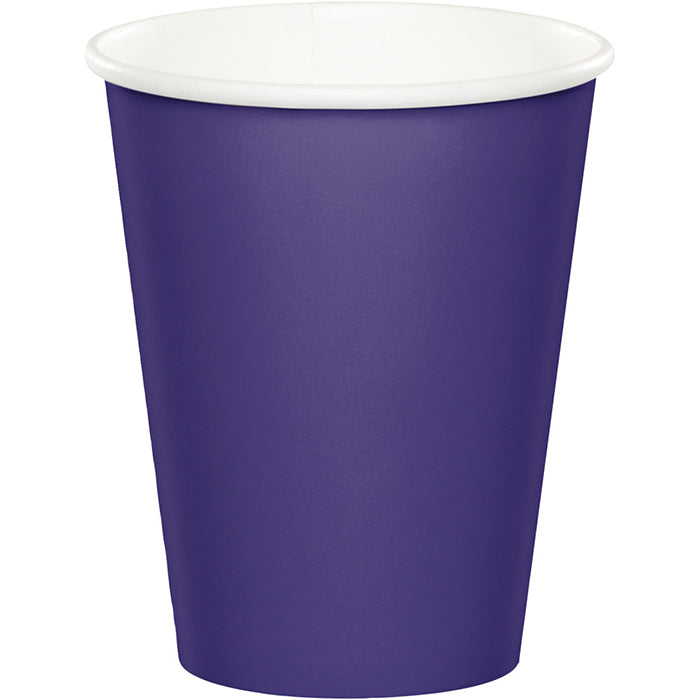 Purple Hot/Cold Paper Paper Cups 9 Oz., 8 ct by Creative Converting