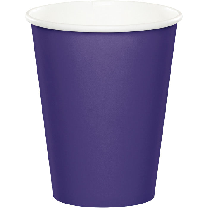Purple Hot/Cold Paper Paper Cups 9 Oz., 24 ct by Creative Converting