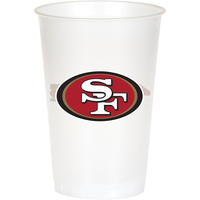 San Francisco 49Ers Plastic Cup, 20Oz, 8 ct by Creative Converting