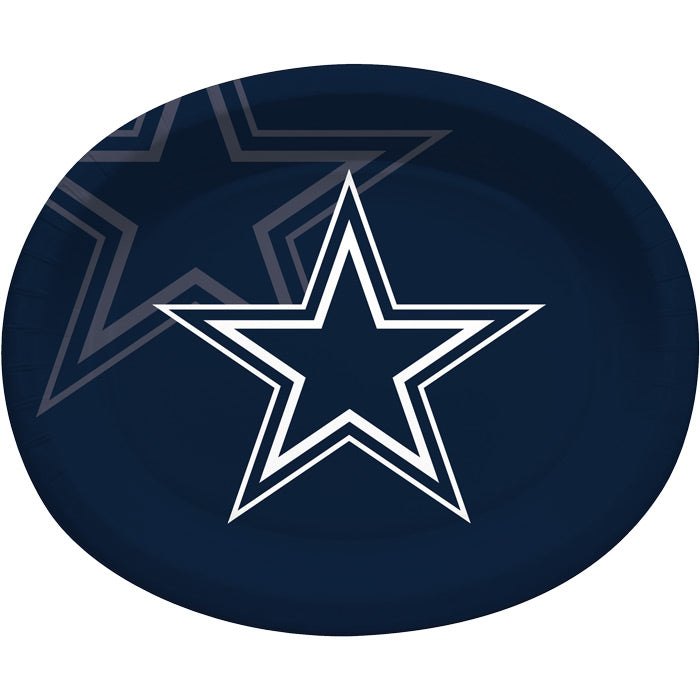"Dallas Cowboys Oval Platter 10"" X 12"", 8 ct by Creative Converting"