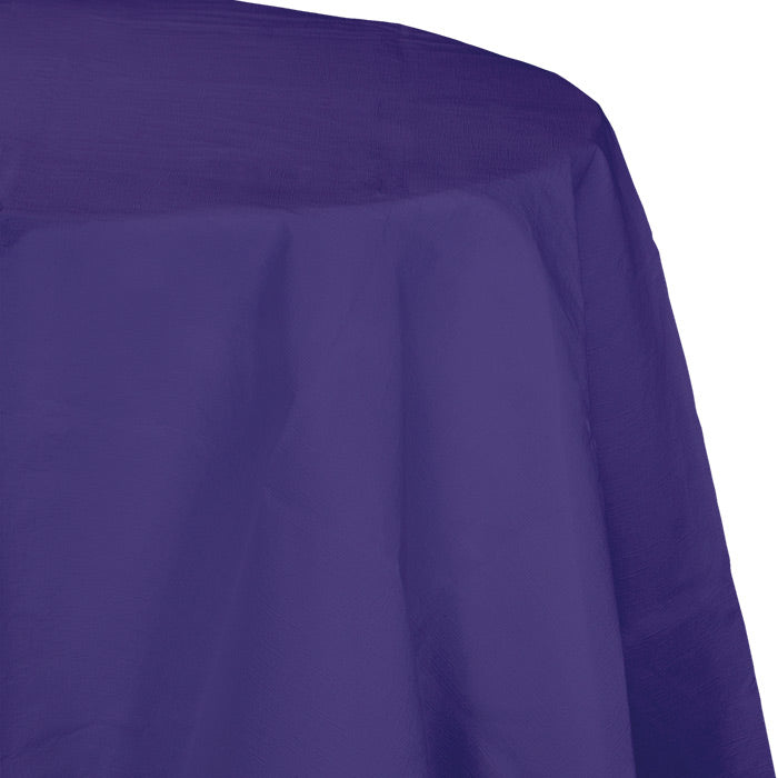 "Purple Tablecover, Octy Round 82"" Polylined Tissue by Creative Converting"